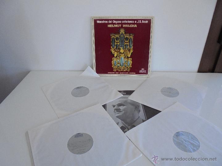 Discos de vinilo: MAESTROS DEL ORGANO ANTERIORES A J.S.BACH. HELMUT WALCHA. 4 DISCOS MAS LIBRETO. VER FOTOGRAFIAS. - Foto 2 - 51202591