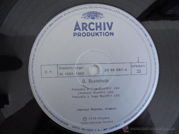 Discos de vinilo: MAESTROS DEL ORGANO ANTERIORES A J.S.BACH. HELMUT WALCHA. 4 DISCOS MAS LIBRETO. VER FOTOGRAFIAS. - Foto 7 - 51202591