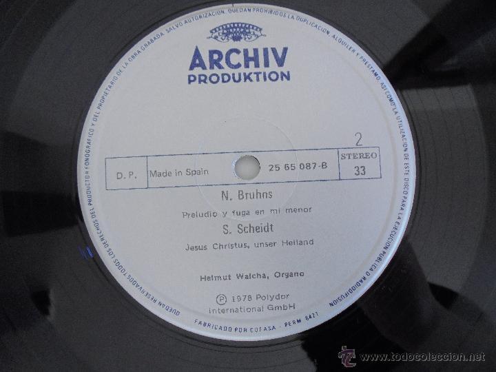 Discos de vinilo: MAESTROS DEL ORGANO ANTERIORES A J.S.BACH. HELMUT WALCHA. 4 DISCOS MAS LIBRETO. VER FOTOGRAFIAS. - Foto 9 - 51202591