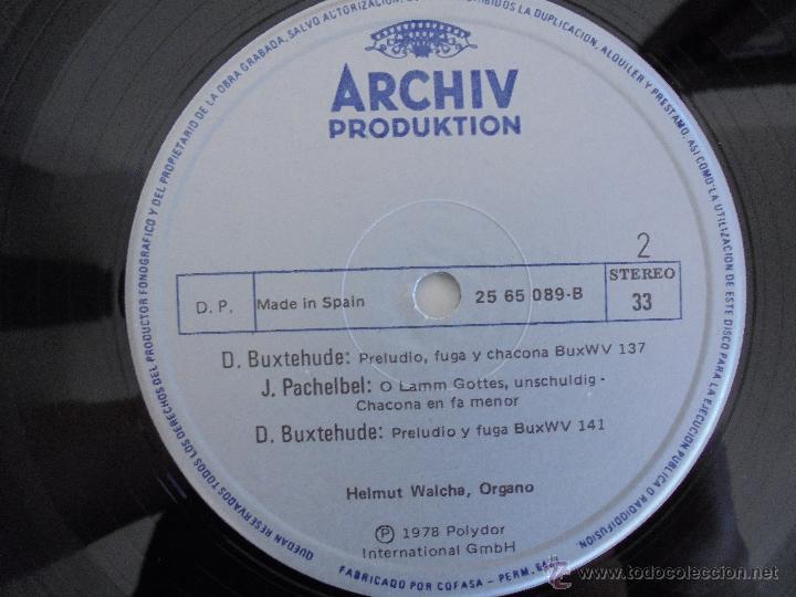 Discos de vinilo: MAESTROS DEL ORGANO ANTERIORES A J.S.BACH. HELMUT WALCHA. 4 DISCOS MAS LIBRETO. VER FOTOGRAFIAS. - Foto 12 - 51202591