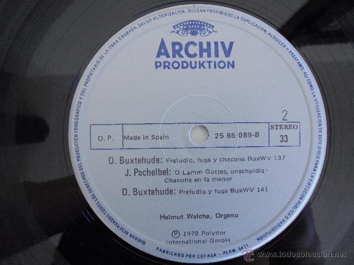 Discos de vinilo: MAESTROS DEL ORGANO ANTERIORES A J.S.BACH. HELMUT WALCHA. 4 DISCOS MAS LIBRETO. VER FOTOGRAFIAS. - Foto 13 - 51202591