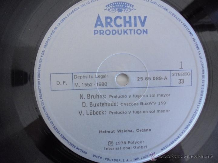 Discos de vinilo: MAESTROS DEL ORGANO ANTERIORES A J.S.BACH. HELMUT WALCHA. 4 DISCOS MAS LIBRETO. VER FOTOGRAFIAS. - Foto 16 - 51202591