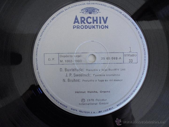 Discos de vinilo: MAESTROS DEL ORGANO ANTERIORES A J.S.BACH. HELMUT WALCHA. 4 DISCOS MAS LIBRETO. VER FOTOGRAFIAS. - Foto 19 - 51202591