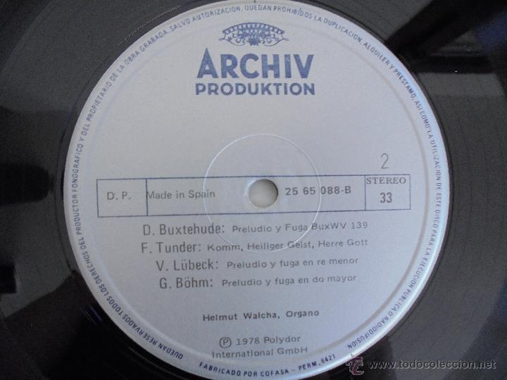 Discos de vinilo: MAESTROS DEL ORGANO ANTERIORES A J.S.BACH. HELMUT WALCHA. 4 DISCOS MAS LIBRETO. VER FOTOGRAFIAS. - Foto 21 - 51202591