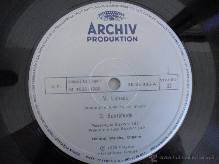 Discos de vinilo: MAESTROS DEL ORGANO ANTERIORES A J.S.BACH. HELMUT WALCHA. 4 DISCOS MAS LIBRETO. VER FOTOGRAFIAS. - Foto 24 - 51202591