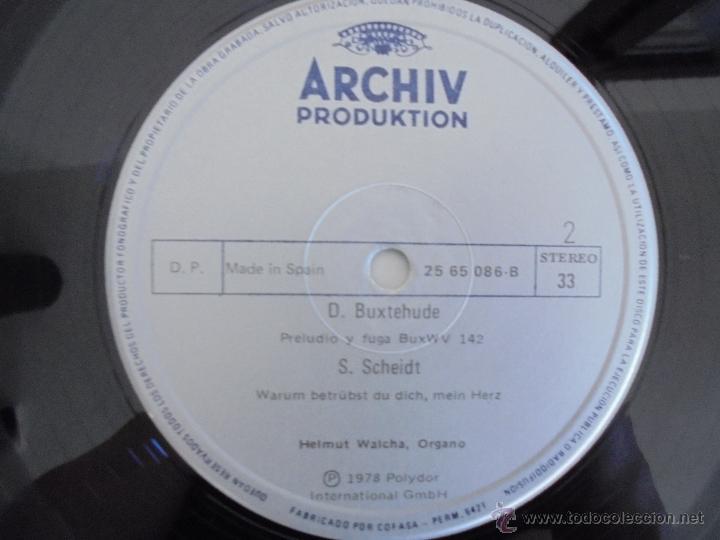 Discos de vinilo: MAESTROS DEL ORGANO ANTERIORES A J.S.BACH. HELMUT WALCHA. 4 DISCOS MAS LIBRETO. VER FOTOGRAFIAS. - Foto 26 - 51202591