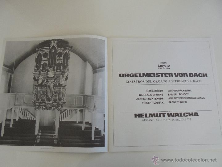Discos de vinilo: MAESTROS DEL ORGANO ANTERIORES A J.S.BACH. HELMUT WALCHA. 4 DISCOS MAS LIBRETO. VER FOTOGRAFIAS. - Foto 28 - 51202591