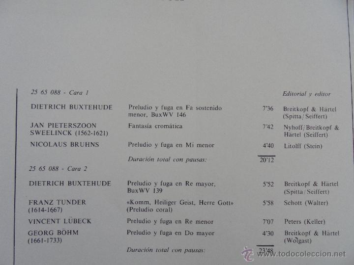 Discos de vinilo: MAESTROS DEL ORGANO ANTERIORES A J.S.BACH. HELMUT WALCHA. 4 DISCOS MAS LIBRETO. VER FOTOGRAFIAS. - Foto 33 - 51202591