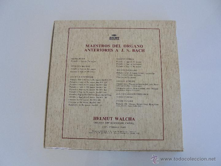 Discos de vinilo: MAESTROS DEL ORGANO ANTERIORES A J.S.BACH. HELMUT WALCHA. 4 DISCOS MAS LIBRETO. VER FOTOGRAFIAS. - Foto 38 - 51202591