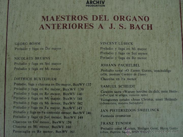 Discos de vinilo: MAESTROS DEL ORGANO ANTERIORES A J.S.BACH. HELMUT WALCHA. 4 DISCOS MAS LIBRETO. VER FOTOGRAFIAS. - Foto 39 - 51202591