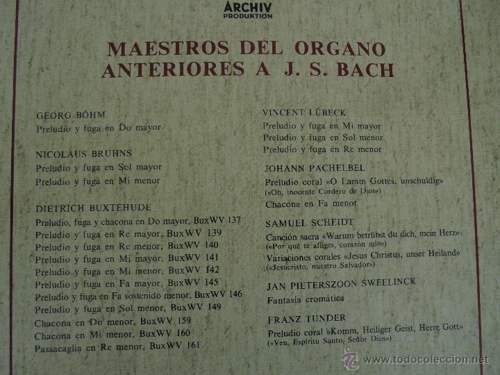 Discos de vinilo: MAESTROS DEL ORGANO ANTERIORES A J.S.BACH. HELMUT WALCHA. 4 DISCOS MAS LIBRETO. VER FOTOGRAFIAS. - Foto 40 - 51202591