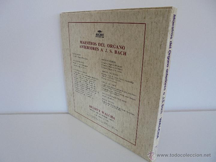 Discos de vinilo: MAESTROS DEL ORGANO ANTERIORES A J.S.BACH. HELMUT WALCHA. 4 DISCOS MAS LIBRETO. VER FOTOGRAFIAS. - Foto 41 - 51202591