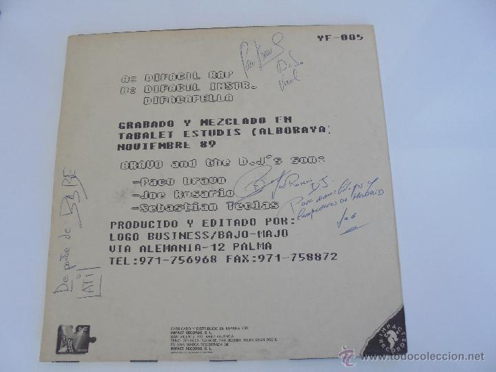 Discos de vinilo: DIFACIL RAP BRAVO AND DJ`S. DEDICADO POR LOS AUTORES. VER FOTOGRAFIAS ADJUNTAS. - Foto 7 - 51206466
