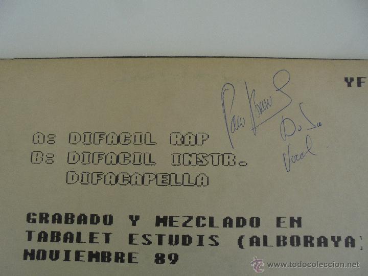 Discos de vinilo: DIFACIL RAP BRAVO AND DJ`S. DEDICADO POR LOS AUTORES. VER FOTOGRAFIAS ADJUNTAS. - Foto 11 - 51206466