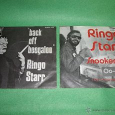 Discos de vinilo: DIFICIL RARO LOTE SINGLE RINGO STARR BACK OFF BOOGALOO/BLINDMAN 1972 SNOOKEROO/OO-WEE 1975 BEATLES. Lote 51210269