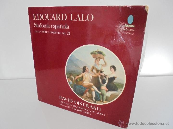 EDOUARD LALO. SINFONIA ESPAÑOLA PARA VIOLIN Y ORQUESTA. DAVID OISTRAKH. VER FOTOGRAFIAS ADJUNTAS. (Música - Discos - Singles Vinilo - Clásica, Ópera, Zarzuela y Marchas)
