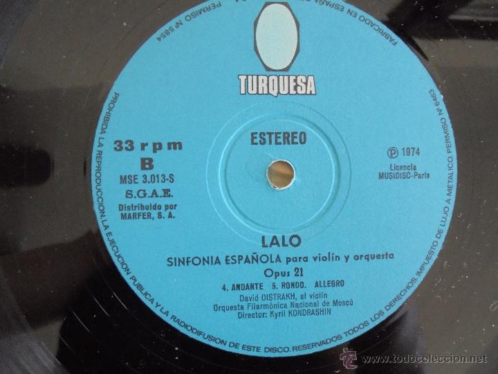Discos de vinilo: EDOUARD LALO. SINFONIA ESPAÑOLA PARA VIOLIN Y ORQUESTA. DAVID OISTRAKH. VER FOTOGRAFIAS ADJUNTAS. - Foto 6 - 51223067
