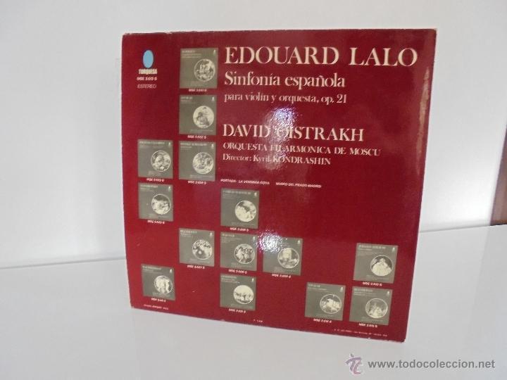 Discos de vinilo: EDOUARD LALO. SINFONIA ESPAÑOLA PARA VIOLIN Y ORQUESTA. DAVID OISTRAKH. VER FOTOGRAFIAS ADJUNTAS. - Foto 7 - 51223067