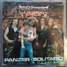 Discos de vinilo: PANZER PANZER / SOLITARIO (CHAPA, 1982) PROMO ROCK DURO HEAVY METAL. Lote 51223298