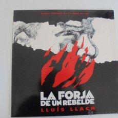 Discos de vinilo: LA FORJA DE UN REBELDE. LLUIS LLACH. BANDA SONORA DE LA SERIE DE TELEVISION. 1990. VER FOTOGRAFIAS.. Lote 51223578
