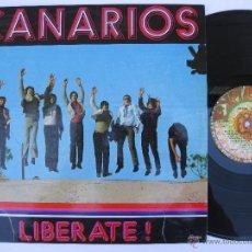 Discos de vinilo: CANARIOS - ORIG. LP SPAIN PS - EX * LIBERATE! * 1974 + EXPLOSION LABEL ES-34002. Lote 51644199