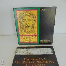 Discos de vinilo: SEMANA DE MUSICA RELIGIOSA DE CUENCA XXI, XXII Y XXIII. NUEVE DISCOS DOS ESTUCHES. VER FOTOGRAFIAS . Lote 51223857