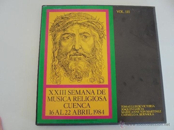 Discos de vinilo: SEMANA DE MUSICA RELIGIOSA DE CUENCA XXI, XXII Y XXIII. NUEVE DISCOS DOS ESTUCHES. VER FOTOGRAFIAS - Foto 3 - 51223857