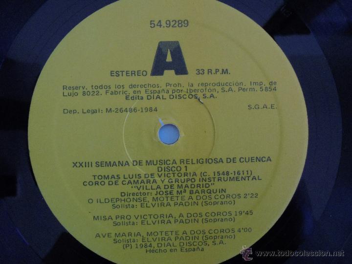 Discos de vinilo: SEMANA DE MUSICA RELIGIOSA DE CUENCA XXI, XXII Y XXIII. NUEVE DISCOS DOS ESTUCHES. VER FOTOGRAFIAS - Foto 9 - 51223857