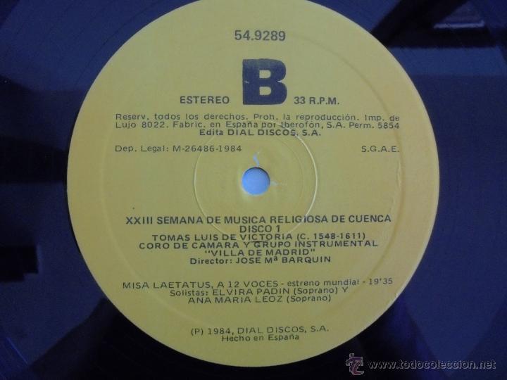 Discos de vinilo: SEMANA DE MUSICA RELIGIOSA DE CUENCA XXI, XXII Y XXIII. NUEVE DISCOS DOS ESTUCHES. VER FOTOGRAFIAS - Foto 11 - 51223857