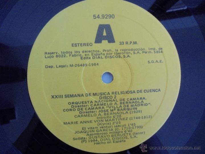 Discos de vinilo: SEMANA DE MUSICA RELIGIOSA DE CUENCA XXI, XXII Y XXIII. NUEVE DISCOS DOS ESTUCHES. VER FOTOGRAFIAS - Foto 13 - 51223857