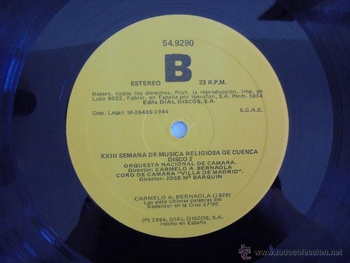 Discos de vinilo: SEMANA DE MUSICA RELIGIOSA DE CUENCA XXI, XXII Y XXIII. NUEVE DISCOS DOS ESTUCHES. VER FOTOGRAFIAS - Foto 15 - 51223857