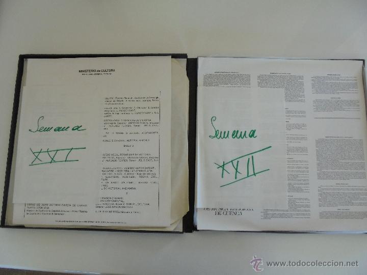 Discos de vinilo: SEMANA DE MUSICA RELIGIOSA DE CUENCA XXI, XXII Y XXIII. NUEVE DISCOS DOS ESTUCHES. VER FOTOGRAFIAS - Foto 19 - 51223857