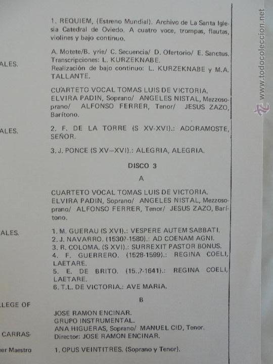 Discos de vinilo: SEMANA DE MUSICA RELIGIOSA DE CUENCA XXI, XXII Y XXIII. NUEVE DISCOS DOS ESTUCHES. VER FOTOGRAFIAS - Foto 23 - 51223857