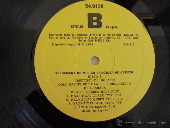 Discos de vinilo: SEMANA DE MUSICA RELIGIOSA DE CUENCA XXI, XXII Y XXIII. NUEVE DISCOS DOS ESTUCHES. VER FOTOGRAFIAS - Foto 28 - 51223857