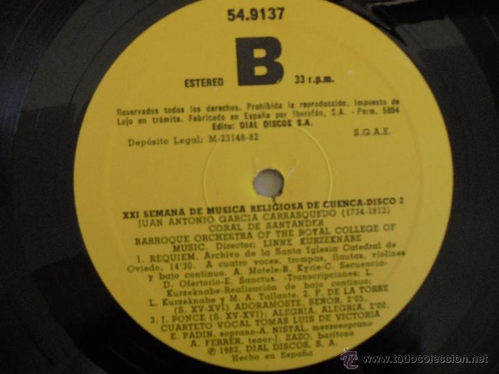 Discos de vinilo: SEMANA DE MUSICA RELIGIOSA DE CUENCA XXI, XXII Y XXIII. NUEVE DISCOS DOS ESTUCHES. VER FOTOGRAFIAS - Foto 32 - 51223857
