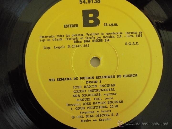 Discos de vinilo: SEMANA DE MUSICA RELIGIOSA DE CUENCA XXI, XXII Y XXIII. NUEVE DISCOS DOS ESTUCHES. VER FOTOGRAFIAS - Foto 36 - 51223857