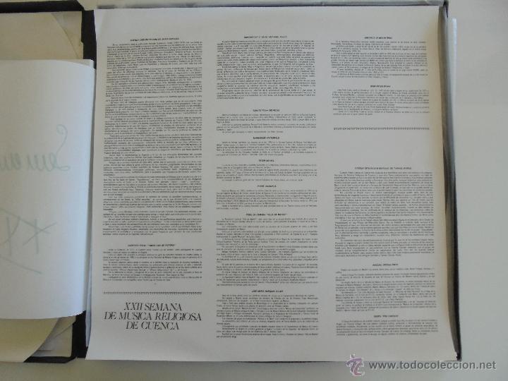 Discos de vinilo: SEMANA DE MUSICA RELIGIOSA DE CUENCA XXI, XXII Y XXIII. NUEVE DISCOS DOS ESTUCHES. VER FOTOGRAFIAS - Foto 38 - 51223857