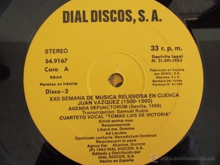 Discos de vinilo: SEMANA DE MUSICA RELIGIOSA DE CUENCA XXI, XXII Y XXIII. NUEVE DISCOS DOS ESTUCHES. VER FOTOGRAFIAS - Foto 41 - 51223857