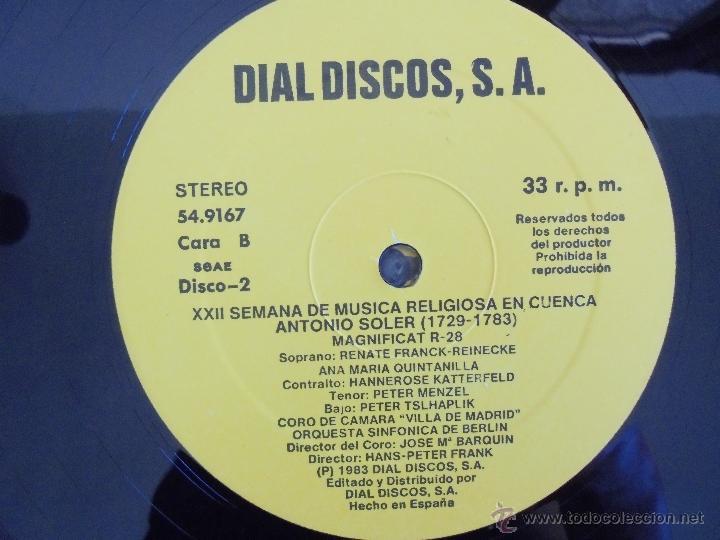 Discos de vinilo: SEMANA DE MUSICA RELIGIOSA DE CUENCA XXI, XXII Y XXIII. NUEVE DISCOS DOS ESTUCHES. VER FOTOGRAFIAS - Foto 43 - 51223857