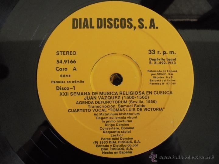 Discos de vinilo: SEMANA DE MUSICA RELIGIOSA DE CUENCA XXI, XXII Y XXIII. NUEVE DISCOS DOS ESTUCHES. VER FOTOGRAFIAS - Foto 45 - 51223857