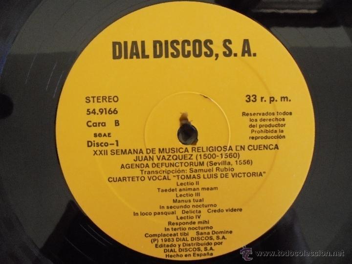 Discos de vinilo: SEMANA DE MUSICA RELIGIOSA DE CUENCA XXI, XXII Y XXIII. NUEVE DISCOS DOS ESTUCHES. VER FOTOGRAFIAS - Foto 47 - 51223857