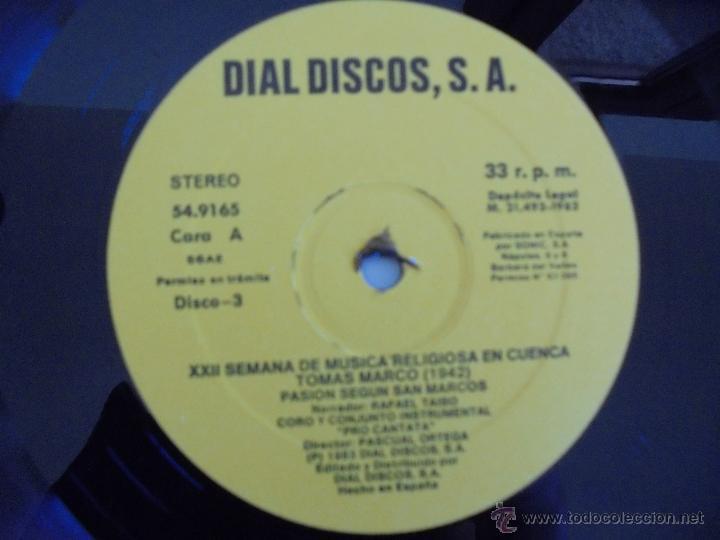 Discos de vinilo: SEMANA DE MUSICA RELIGIOSA DE CUENCA XXI, XXII Y XXIII. NUEVE DISCOS DOS ESTUCHES. VER FOTOGRAFIAS - Foto 49 - 51223857