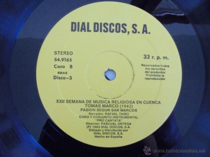 Discos de vinilo: SEMANA DE MUSICA RELIGIOSA DE CUENCA XXI, XXII Y XXIII. NUEVE DISCOS DOS ESTUCHES. VER FOTOGRAFIAS - Foto 51 - 51223857