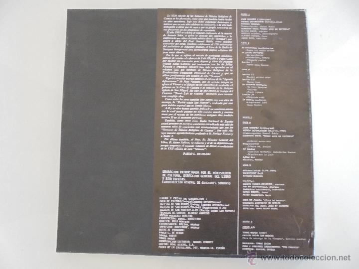 Discos de vinilo: SEMANA DE MUSICA RELIGIOSA DE CUENCA XXI, XXII Y XXIII. NUEVE DISCOS DOS ESTUCHES. VER FOTOGRAFIAS - Foto 52 - 51223857