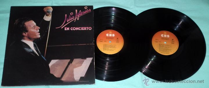 DOBLE LP JULIO IGLESIAS - EN CONCIERTO (Música - Discos - LP Vinilo - Solistas Españoles de los 70 a la actualidad)