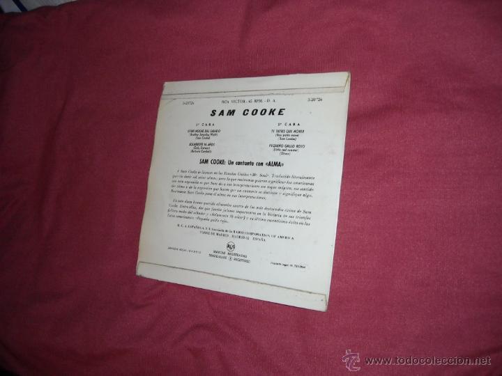 Discos de vinilo: SAM COOKE EP OTRA NOCHE DEL SABADO 1964 RCA SPA VER FOTOS - Foto 2 - 51254674