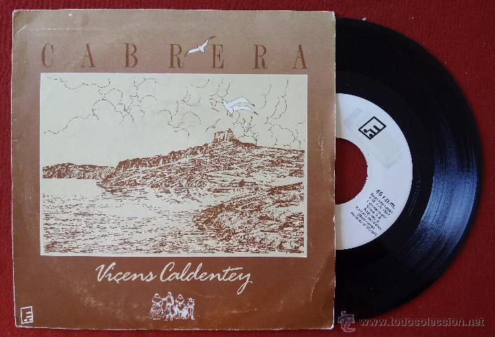 VICENS CALDENTEY, CABRERA (ESTUDI 86, 1987) SINGLE- Z-66 HARMONICA COIXA VICTOR URIS VICENTE VIÇENS (Música - Discos - Singles Vinilo - Grupos Españoles de los 70 y 80)
