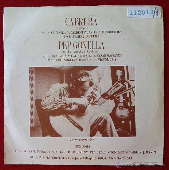 Discos de vinilo: VICENS CALDENTEY, CABRERA (ESTUDI 86, 1987) SINGLE- Z-66 HARMONICA COIXA VICTOR URIS VICENTE VIÇENS - Foto 2 - 51254878