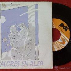 Discos de vinilo: VALORES EN ALZA, TORMENTOS EN LA OSCURIDAD (PDI 1985) SINGLE. Lote 51255501