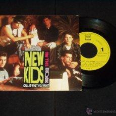 Discos de vinilo: NEW KIDS SINGLE CALL IT WHAT YOU WANT PROMO RARO. Lote 51277993